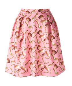 Giorgia Fiore | Doll Print Skirt 38 Polyester/Spandex/Elastane