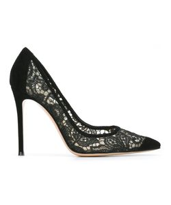 Gianvito Rossi | Elodie Pumps 39 Cotton/Leather/Calf Suede