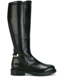 Baldinini | Knee Length Boots 38 Lamb Skin/Wool/Rubber