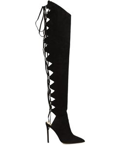 Alexandre Vauthier | Lace Up Over-The-Knee Boots 40 Suede