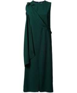 Chalayan | Drapey Sleeveless Midi Dress 42 Polyester/Polyurethane/Rayon