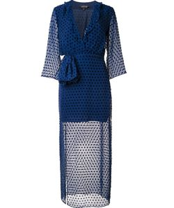 Saloni | Sheer Polka Dot Dress 6 Silk/Polyester/Rayon