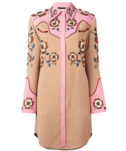 COACH | Embroidered Shirt Dress 4 Nylon/Spandex/Elastane/Cupro/Wool
