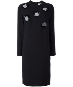 MSGM | Embellished Shift Dress 46 Polyester/Acetate/Viscose