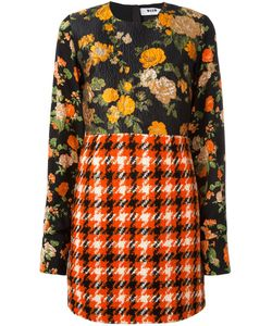 MSGM | Patchwork Dress 46 Polyamide/Polyester/Wool