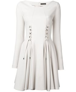 Plein Sud | Lace-Up Skater Dress 38 Leather/Polyamide/Polyester/Virgin Wool
