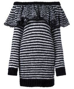 Philosophy di Lorenzo Serafini | Striped Ruffle Off Shoulder Dress