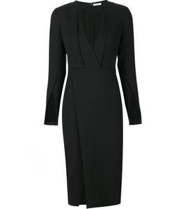 PROTAGONIST   V-Neck Dress 8 Polyester/Spandex/Elastane/Virgin Wool