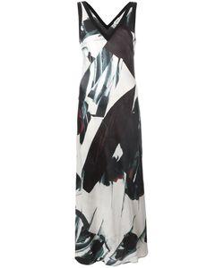 DKNY | Атласное Платье Макси С Принтом