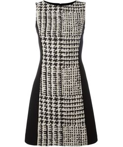 Fausto Puglisi | Checked Fitted Dress 40 Silk/Cotton/Linen/Flax/Virgin Wool