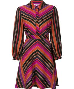 Diane Von Furstenberg | Striped Shirt Dress 2 Silk/Wool