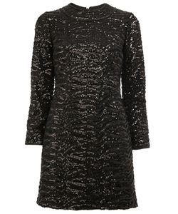 Saint Laurent | Sequin Embellished Shift Dress 36 Silk/Polyester/Wool/Sequin