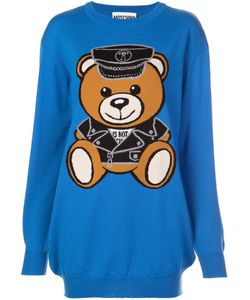 Moschino | Biker Bear Sweater Dress Small Virgin Wool