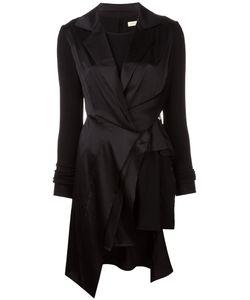 Wunderkind | Peaked Lapel Draped Dress 34 Silk/Spandex/Elastane/Virgin Wool