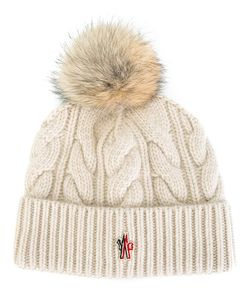 Moncler Grenoble | Pompom Beanie Cashmere/Wool/Coyote Fur