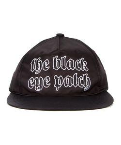 Black Eye Patch | Logo Satin Cap Cotton/Rayon