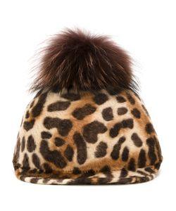 DRESS CAMP | Dresscamp Animal Print Beanie Cap Adult Unisex Racoon Fur/Rabbit Felt