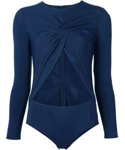 Thakoon | Front Twist Bodysuit 0 Cotton/Nylon/Spandex/Elastane