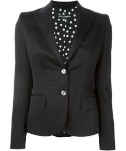 Dolce & Gabbana | Two Button Blazer 46 Silk/Cotton/Spandex/Elastane