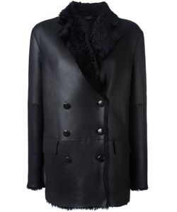 Joseph | Double Breasted Shearling Peacoat 38 Lamb Skin/Lamb