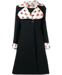 Jour/Né | Embroidered Flared Coat 34 Cotton/Polyamide/Wool