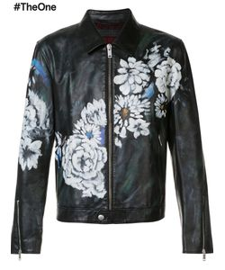 Alexander McQueen | Print Jacket 48 Calf Leather/Wool