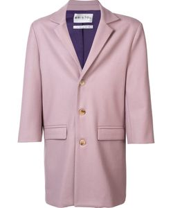 Bristol | Single Breasted Coat Large Nylon/Polyester/Viscose/Wool