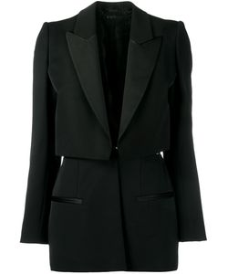Alexander McQueen | Layered Blazer 38 Silk/Cotton/Polyamide/Wool