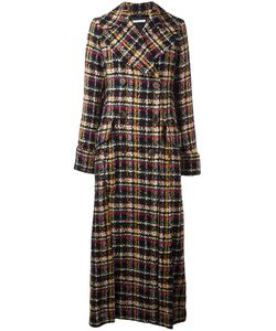 Alessandra Rich | Double Breasted Long Coat 42 Silk/Cotton/Polyamide/Wool