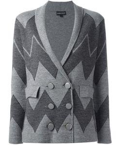 Emporio Armani   Double Breasted Blazer 44 Polyamide/Spandex/Elastane/Wool