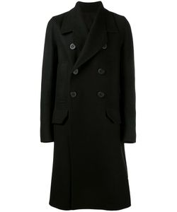 Rick Owens | Double Breasted Coat 48 Cotton/Cupro/Virgin Wool