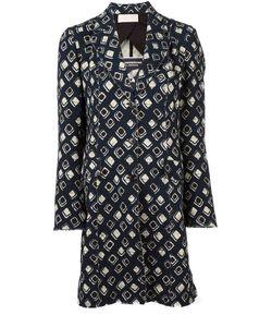 Wunderkind | African Wax Print Raw Coat 36 Silk/Cotton/Spandex/Elastane/Virgin