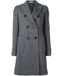 Lardini | Peaked Lapel Coat 40 Nylon/Wool/Alpaca