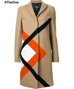 MSGM | Graphic Single Breasted Coat 44 Polyamide/Wool