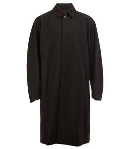 KAZUYUKI KUMAGAI | Concealed Fastening Mid Coat 4 Nylon/Polyurethane/Cupro/Wool