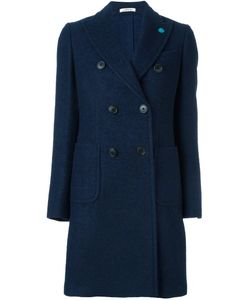 Lardini | Peaked Lapel Coat 42 Nylon/Wool/Alpaca