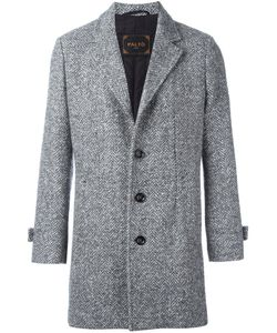 PALTÒ | Paltò Herringbone Pattern Coat Large Silk/Cotton/Virgin Wool