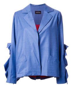 Elaidi | Ruffled Sleeve Jacket 40 Polyester/Spandex/Elastane/Wool