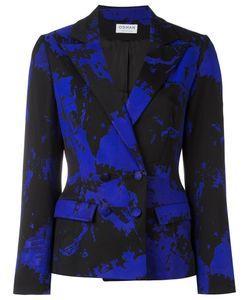OSMAN | Marble Print Fitted Jacket 8 Polyamide/Spandex/Elastane/Wool