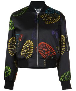 Moschino | Cropped Boot Print Jacket 40 Rayon/Wool