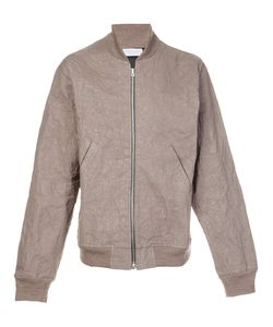 John Elliott | Creased Effect Bomber Jacket Xxl Modal/Wool/Metal