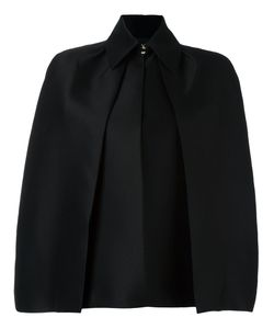Dsquared2 | Draped Pleat Detail Cape 40 Silk/Polyester/Wool