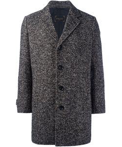 PALTÒ | Paltò Herringbone Short Coat 52 Silk/Cotton/Virgin Wool