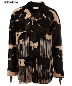 Faith Connexion | Fringed Jacket Small Polyester/Calf Hair