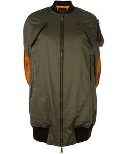Erika Cavallini   Oversized Sleeveless Bomber Jacket 38 Cotton/Acrylic/Polyamide/Wool