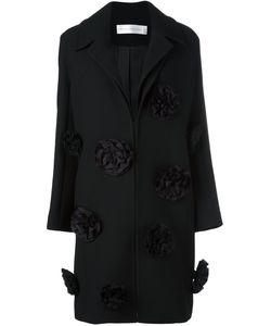 Victoria, Victoria Beckham | Victoria Victoria Beckham Flower Applique Coat 8 Silk/Nylon/Polyester/Wool