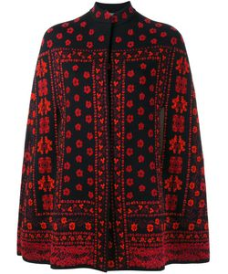 Alexander McQueen | Jacquard Knit Cape Small Silk/Polyamide/Polyester/Wool