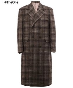 Thom Browne | Long Checked Overcoat 2 Nylon/Cupro/Mohair/Wool