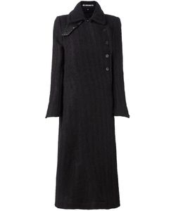 Ann Demeulemeester | Double Breasted Coat 40 Cotton/Nylon/Virgin Wool
