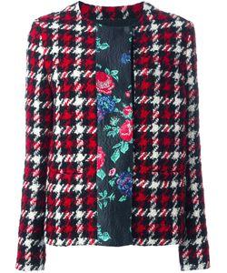 MSGM | Plaid Contrast Stripe Jacket 42 Polyamide/Polyester/Wool